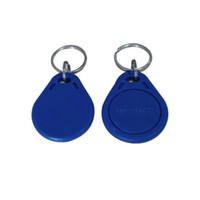 etiquetas plásticas personalizadas venda por atacado-Os preços de Fábrica mais barato de Alta Qualidade EM4100 125 khz 100 pçs / lote ISO11785 ABS RFID Personalizado Plástico Keyring Keychains tags Plástico ID chave tags