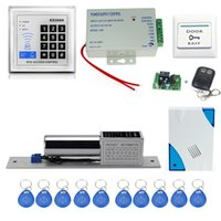 Venta al por mayor - envío libre RFID de control de acceso KD2000 model + electronic lock + power supply + key fobs + door bell + salida button + remote control