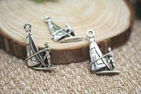 145pcs-wind-surf-charms-Antique-tibetano-argento-acqua-sport-fascino-Ciondoli-DIY-accessori per la casa-22x15mm