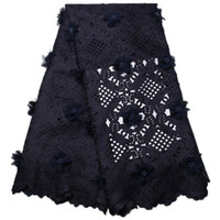 Wholesale 3d Flower Lace Fabric - African Dry Lace Fabric Swiss Voile High Quality 3d Flowers African Swiss Laser Cutting Lace For Nigerian Wedding Dress T08-1