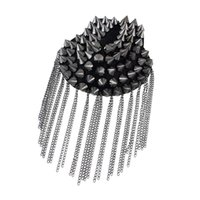 Wholesale Cool Elements - 1 pcs Hot sale Punk style Cool Element Spike Chain Tassels Brooch Shoulder Board