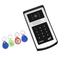 WIFI Video Doorphone Outdoor Monitor Interphone Code RFID Clavier Clavier Caméra Applicable à Familles / étages / villas / appartements