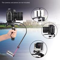 Wholesale Dv Steadicam - Video   Cam Stabilizer Handheld Handle Grip Steadicam with Phone Clip for iPhone 5S 6 DSLR Camera DV Camcorder DSLR Camera