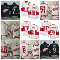 Hommes d'hiver Classic # 71 Dylan Larkin Jersey 2017 Stadium Series Detroit Red Wings Maillots de hockey sur glace Red White
