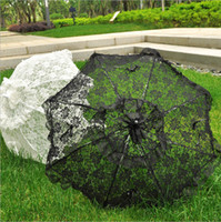 Wholesale vintage wedding photo props resale online - Bridal Embroider Lace Sun Umbrella Wedding Party Parasol Photo Props Vintage Royal Palace Style Party Decoration