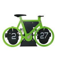 Wholesale Travelling Digital Clock - Colorful Bike Shape Alarm Clock For Children Kids Bicycle Alarm Clocks Home Art Decoration Flip Down Travel movement-Dual Gear Operated