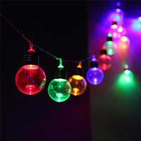 Wholesale Led String Bulb Multicolor - Wholesale- 10M 20 LED String Light Globe Patio Led Outdoor Clear Bulb Multicolor Chirstmas Wedding Party Decor Fairy Lamp EU Plug DC31V