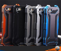 Wholesale Gundam Iphone Case - For apple iphone 7 6 6S 6S plus Dirt-resistant case Shockproof Aluminum Gorilla Glass Metal Case Cover IP68 R-JUST Gundam Case