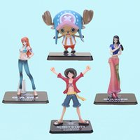 """Wholesale Luffy New World - 6"""" anime One Piece Monkey D Luffy Nami Chopper Nico After 2 Years the new world two years later PVC Action Figure Model Toy"""