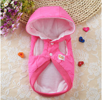 Wholesale Dog Coats Wholesale - Autumn Winter Pet Dog Cat Clothes Hoodie outerwear Coat Apparel Puppy Rabbit with bowknot Hoodie Costume dog winter coat