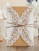 Wholesale Birthday Express Invitations - Wholesale-Vintage Wedding Invitation cards ,laser cut birthday party marriage Invitations greeting card kits 100pcs, EXPRESS shipping