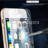 Wholesale Scratch Shatterproof Protector For Iphone - 6G 6S Tempered Glass Protector for iPhone 6 6s 4.7'' Tempered Screen protective film 0.26mm 2.5D Round Edge Shatterproof film