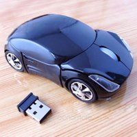 Cool 3D Car Voiture a forma di 2.4GHz Optique Mouse senza fili Mouse Ricevitore USB per PC Laptop Indicatore LED Macbook Comodo Evita l'affaticamento