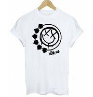 Wholesale Wholesale Unique T Shirt - Wholesale-Music T shirt Summer Women BLINK 182 Rock Band Letters Print Funny Cotton Shirt Harajuku Unique Tee Womens-Fashion-Clothing