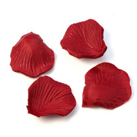 Wholesale Red Heaven - Wholesale-Lots 200pcs Red Colors Silk Flower Rose Petals Wedding Party Decorations Favor Hot Pretty Fashion Heaven Free Shipping Oct7