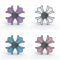 Wholesale Mini Toy Crowns - Four Leaves Fidget Spinner Metal Crown Point Glue Hand Spinners EDC Desks Focus Reliever Press Fingers Toy Creative 9bz B
