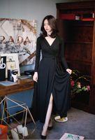 Wholesale Increase Calf Size - Big size women's clothing, 2017 new fat mm plus fat, increase Korean version of Goddess fan, 200 Jin autumn dress