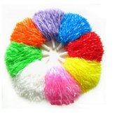 tanzdosen großhandel-Fashion Pom Poms Cheerleading Cheerleading Supplies Square Dance Requisiten Farbe kann wählen Flower Dance Cheerleading Team Handbal