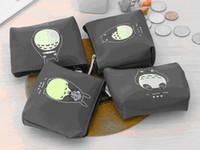 Wholesale Ear Headphones Cartoon - Hot 4 Types Cute Totoro PU Coin Purses Cartoon Waterproof Portable Bags For Card In-ear Headphone