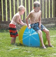 Wholesale Play Outdoors - Inflatable Beach Water Ball Outdoor Sprinkler Summer Inflatable Water Spray Balloon Outdoors Play In The Water Beach Ball KKA1473