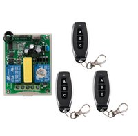 Wholesale Garage Doors Motors - Wholesale- AC 220 V RF 2CH Wireless Remote Control 1* Receiver +3* Transmitter tubular motor garage door projection screen 3 button