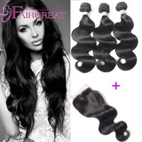 Wholesale Lace Closure Prices - Indian Body Wave Hair Weaves 3Pcs lot Body Wave Indian Human Hair Weaves Lace Closures With Indian Human Hair Bundles Wholosale price