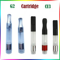 Wholesale Ecig Wax - CE3 Cartridge G2 Clearomizer Chrome Metal Mouthpiece Vaporizer Food Grade Plastic Vape Mods Ecig Oil Cartridge Tank Wax 510 Thread Atomizer