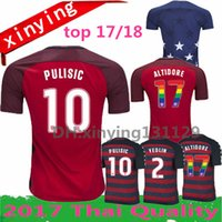 Wholesale Cup Soccer Jersey - USA Soccer Jerseys 17 18 Thailand Quality American National Team Gold Cup 2017 United States DEMPSEY DONOVAN BRADLEY PULISIC Football shirts