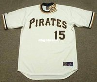 Barato Piratas Jersey Barato-Cheap Custom GENE CLINES Pittsburgh Pirates 1971 Majestic Cooperstown Home Baseball Jersey Retro Mens Jerseys