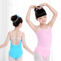 Scelte del Danzatore Pink Cotone lucido / spandex Leotard Kids Dance Costume Girls Costume da ballo Big Girls Dancewear Abbigliamento
