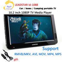 Wholesale Mini Display Vga Hdmi - LEADSTAR LD-1088 10.2 inch Mini TV LED Portable tv HD display Built in lithium battery Led TV HD Player Support HDMI VGA USB SD LCD car