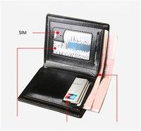 Wholesale Vintage Style Folders - 2017 New male suit folder short design wallet classic luxury man bag card holder The man's wallet