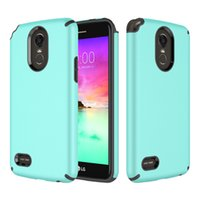 Wholesale Dual Layer Armor Case - For LG Stylo 3 Case Armor Hybrid Shockproof Dual Layer TPU Rugged PC Case Cover for LG LG Stylo 3