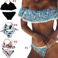 3361bdc126d Wholesale off shoulder bathing suits for sale - Sexy Swimwear Women Sexy  Bandeau Bikinis Swimsuit Brazilian
