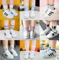 Wholesale Baby Socks Pack - 5 Pack Baby Animal Striped Socks Ankle Korea Sock Summer Infant Toddler Boy Girl Cotton Sock Knitted Cheap Socks 4 Size