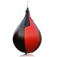 кожаный мешок с песком оптовых-Основные скорость бокса мяч подвеска грушевидной формы боксерские мячи не легко деформируется скорость обучения высокое качество искусственная кожа взрослых мешки с песком 17nw Дж