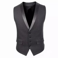 Wholesale Men Satin Waistcoat - Slim Fit Mens Suit Vest Summer Autumn Korean Sleeveless Suit Vest Men 2017 Cardigan Waistcoat Men Business Casual Formal Groom Vests