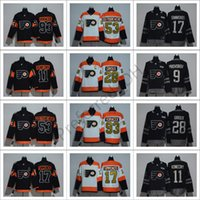 Philadelphia Flyers # 28 Giroux Stadium Series Jerseys de hockey Hommes Hockey Vêtements 2017 Philadelphie # 17 Simmonds # 53 Gostisbehere Jersey Custom