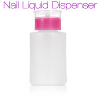 Wholesale Nail Polish Pump Bottle - New Empty Pump Dispenser Nail Polish Liquid Alcohol Remover Cleaner Bottle DIY Nail Art Tools 100ML 2017 Hot Manicure Beauty