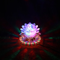 Wholesale rotating beads resale online - Auto Rotating W LED RGB Crystal Stage Light Bead Lamp for Home Decoration DJ Disco Bar Best Gift