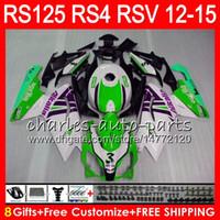 aprilia rsv weiße verkleidungen großhandel-Einspritzung für Aprilia RS4 RSV125 RS125 12 13 14 15 RS125R 12-15 RS-125 Grünweiß 72NO30 RS125RR RSV 125 RS 125 2012 2013 2014 2015 Verkleidung
