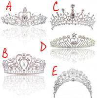 Wholesale Wedding Tiaras Free Shipping - Big Princess Classic Bride Headpieces Tiaras Cute Girls Tiaras Crowns All with Crystal for Wedding and Gift New Style Free shipping CPA793