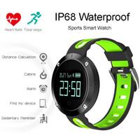 relogios de surf venda por atacado-IP68 Esportes À Prova D 'Água Relógio Inteligente para a Natação Surf Monitor de Freqüência Cardíaca Do Bluetooth Banda Inteligente Pedômetro DM58 Relógio de Pulso Ecrã de Toque 2017
