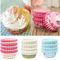 Wholesale Muffins Paper Tray - New 100Pcs set Soft Round Cupcake Liner Muffin Paper Tray Case Oven Baking Bake Mold Wedding Birthday Nut Snack Cup