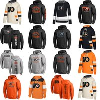 Wholesale womens browning hoodies - Cheap Custom Mens Womens Kids Philadelphia Flyers Best Quality Embroidery Beige Black Grey Orange Ice Hockey Hoodies with Any Name&Any No.