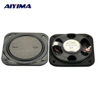 Wholesale Neodymium 15 - Wholesale- AIYIMA 2pcs Full Range Speaker 3 inch 8 ohm 15 W Flat Neodymium Speaker for Home Theater Speakers LCD TV Advertising Machine