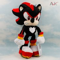 Wholesale Cute Hedgehogs Doll - Wholesale-Sonic The Hedgehog Plush Toys Doll 29cm Black Shadow Sonic Soft Stuffed Figure Dolls with Tag for Kids cute Gift