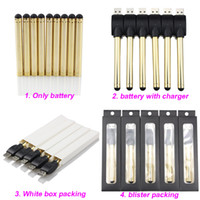 Wholesale golden usb - Golden O pen vape bud touch battery with USB Charger 510 thread e cigarette cartridges wax oil pens for CE3 vaporizer pen cartridges