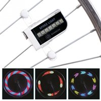Night Cycling Bike Lights Shock Sensor Wheel Spoke Lâmpada LED Universal Mountain Bicycle Wheel Tire Decoração Colorized 14 LED Light