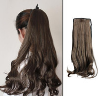 Wholesale Long Curly Wavy Hair Extensions - Fashion Attractive Long Curly Wavy Ponytail Pony Hair Hairpiece Extension
